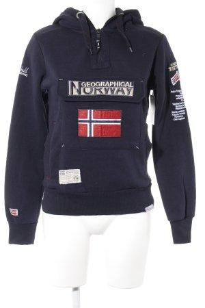 Geographical Norway Kapuzensweatshirt Monogram-Muster Casual-Look