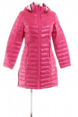 Geographical Norway Quilted Coat pink quilting pattern casual look