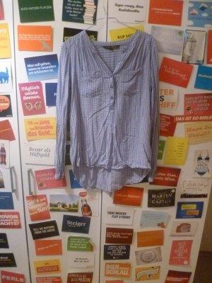 Geometrisch gemusterte Bluse von Tom Tailor, M, 38, Denim, Blogger, Hipster, Dreiecke