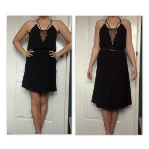 Geometrisches Kleid Rückenausschnitt 3 Tragemöglichkeiten