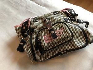 George Gina & Lucy Handbag white-dusky pink textile fiber