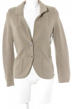 Georg Maier Strickjacke camel meliert Casual-Look