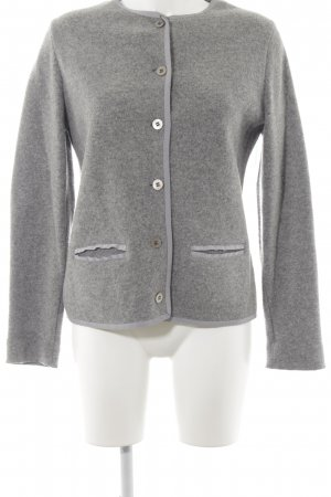 Georg Maier Strickjacke grau Casual-Look