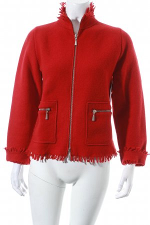 Georg Maier Strickjacke rot Casual-Look