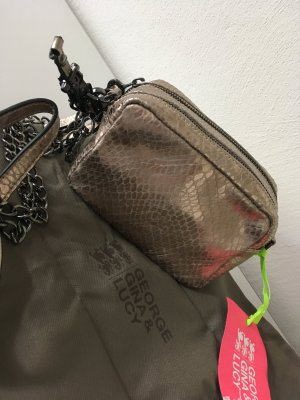 George Gina and Lucy Tasche neu Gold Silber shopper clutch Blogger