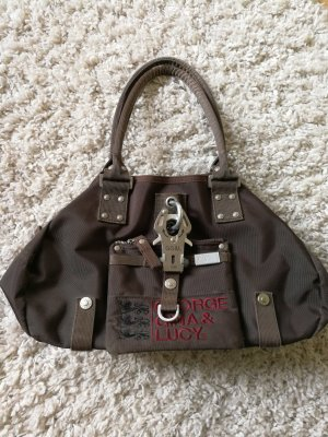 George Gina & Lucy Carry Bag dark brown nylon