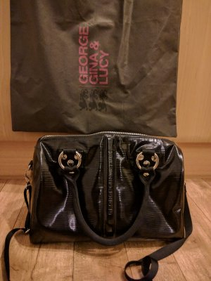 George & Gina Lucy Black Lacktasche Bowlingbag