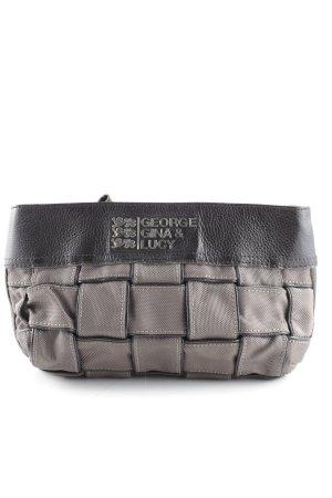 George Gina & Lucy Clutch grey brown-dark brown weave pattern elegant