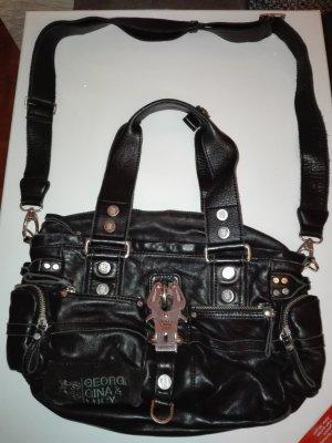 George-Gina & Lucy Damen-Tasche aus echtem Leder, in Schwarze Farbe