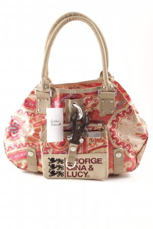 George Gina & Lucy Handtasche abstraktes Muster Ethno-Look