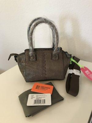 George Gina & Lucy Handbag grey brown leather