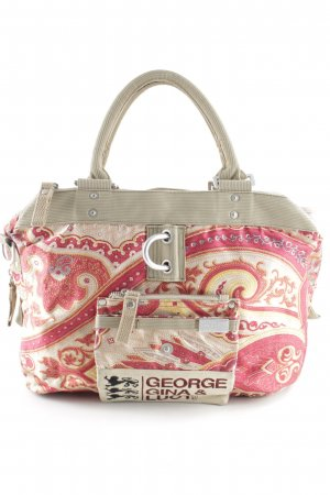 George Gina & Lucy Handbag red-pale yellow paisley pattern beach look