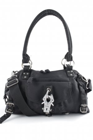 George Gina & Lucy Handbag black-silver-colored casual look