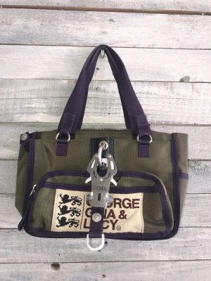 George Gina & Lucy Carry Bag brown violet-olive green