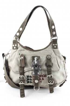 George Gina & Lucy Bolso barrel beige-verde oliva look casual