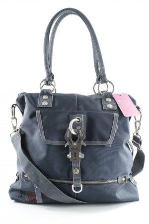 George Gina & Lucy Bolso barrel azul oscuro-gris look casual
