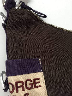 George Gina & Lucy Bolsa de hombro marrón oscuro-violeta oscuro