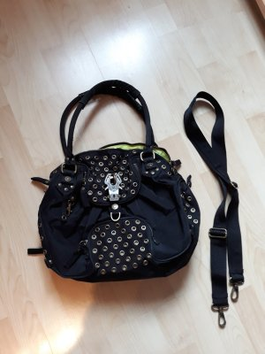 George Gina & Lucy Handbag black-neon green
