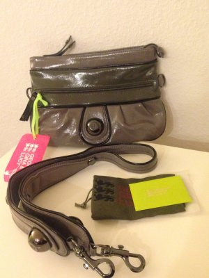 GEORGE GINA & LUCY Messenger Bag Umhängetasche Clutch ECHTLEDERTASCHE Lack NEU