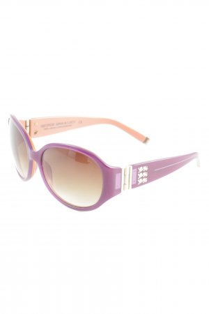George Gina & Lucy ovale Sonnenbrille lila Casual-Look