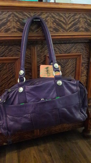 George Gina & lucy purple Bag sehr weiches Vollleder