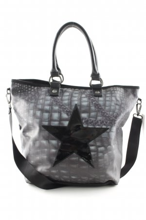 George Gina & Lucy Shoulder Bag black-petrol star pattern casual look