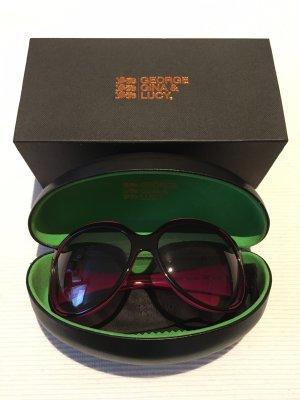 George Gina & Lucy Ronde zonnebril zwart-roze