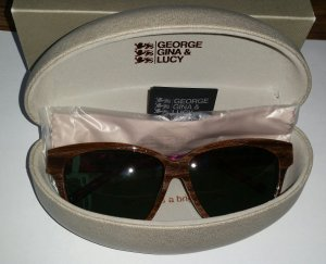 George Gina & Lucy Sonnenbrille Holzoptik