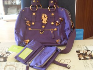 George Gina & Lucy Carry Bag dark violet nylon