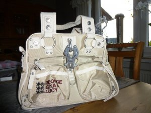 George Gina & Lucy Carry Bag cream-silver-colored nylon