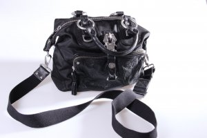 George Gina & Lucy Crossbody bag black-silver-colored leather