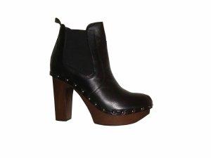 George J Love Ancle Boots Stiefeletten Leder Echtleder schwarz Gr. 37 neu