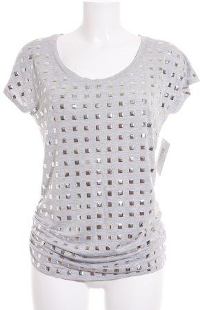 George. T-Shirt hellgrau-silberfarben meliert Street-Fashion-Look