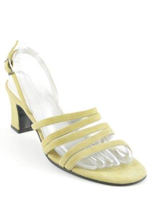 Georges Rech Riemchen-Sandalen limettengelb klassischer Stil