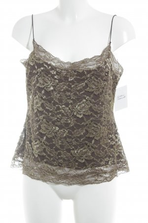 Georges Rech Lace Top brown-gold-colored romantic style