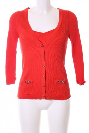 Georges Rech Knitted Twin Set red casual look
