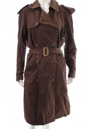 Georges Rech Trenchcoat dunkelbraun Street-Fashion-Look