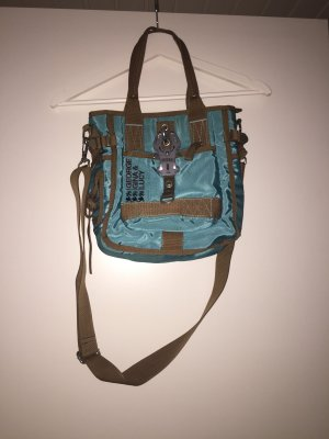 Carry Bag cadet blue-camel