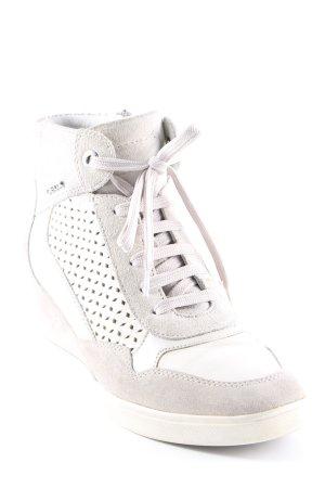 Geox Absatz Sneaker hellgrau-creme Casual-Look