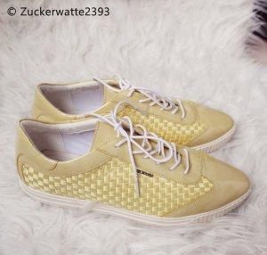 Geox Respira Zapatos brogue amarillo pálido-blanco