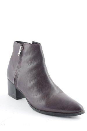 Geox Ankle Boots brombeerrot-schwarz Elegant