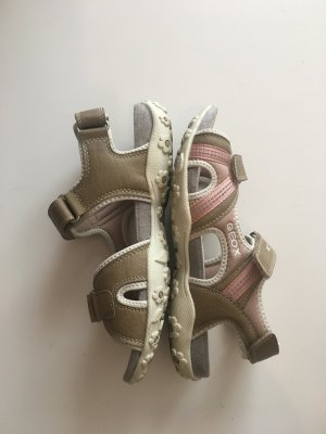 Geox atmungsaktiv Sport Profilsohle  beige rosa Wandern Sport bequem Outdoor Klettverschluss variabel verstellbar 38