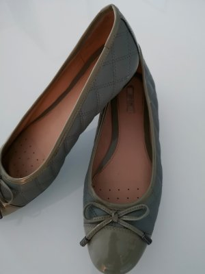 Geox Patent Leather Ballerinas sage green leather