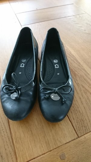 Geox Lakleren ballerina's zwart