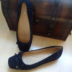 Geox Respira Ballerines Mary Jane noir faux cuir