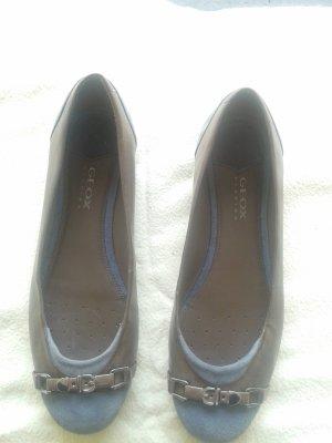 Geox Ballerinas Leder blau graun Gr. 38