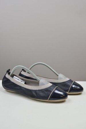 Geox Ballerinas mit Lackkappe blau Größe 37