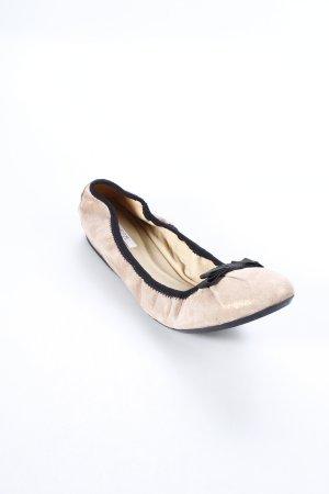 Geox Ballerinas roségoldfarben-schwarz klassischer Stil