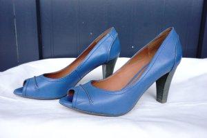 Geox: Blaue Peeptoe, ca. 8,5 cm