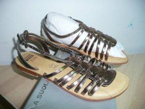 Geox Cuoio Eyecatcher Leder Sandalen Metallic Bronze Gr 40
